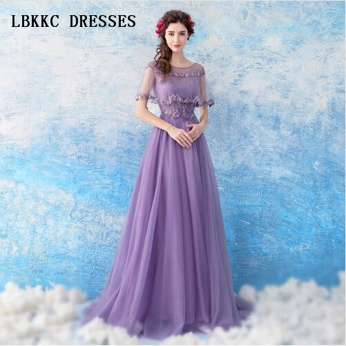 Purple   Evening     Dresses   Long Formal Party Gown Robe Soiree Longue Femme 2018 Floor Length Robe De Soiree Longue