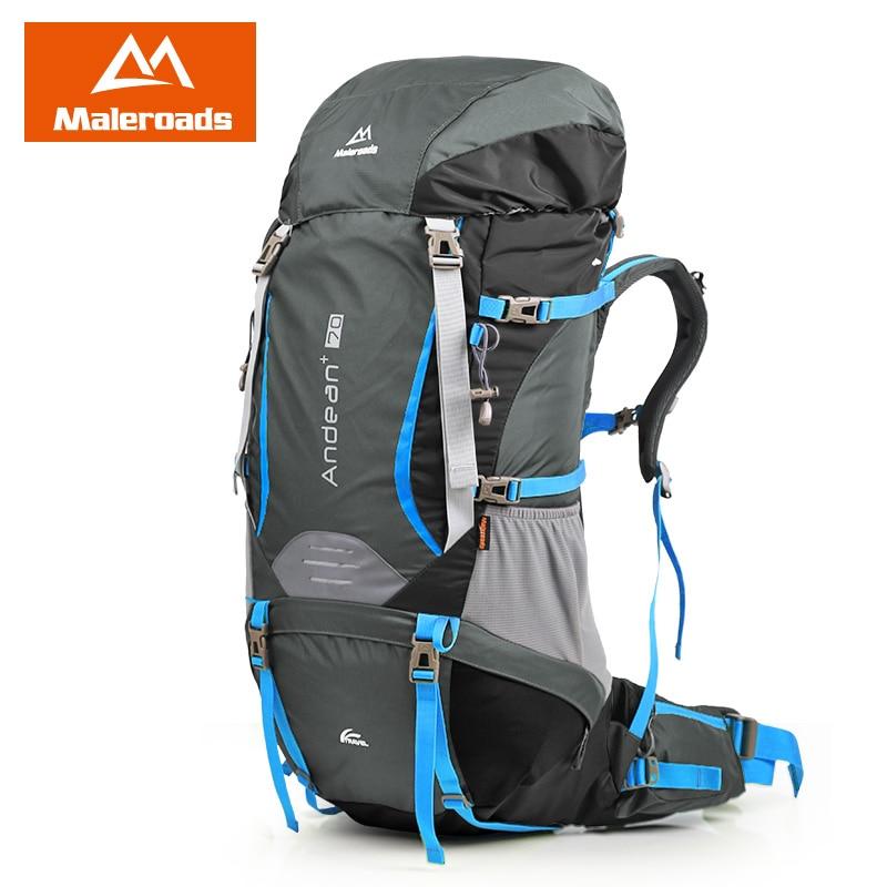 Maleroads profesional 70L Camping senderismo Mochila viaje Mochila gran capacidad deporte montaña escalada bolsas Pack para hombres mujeres