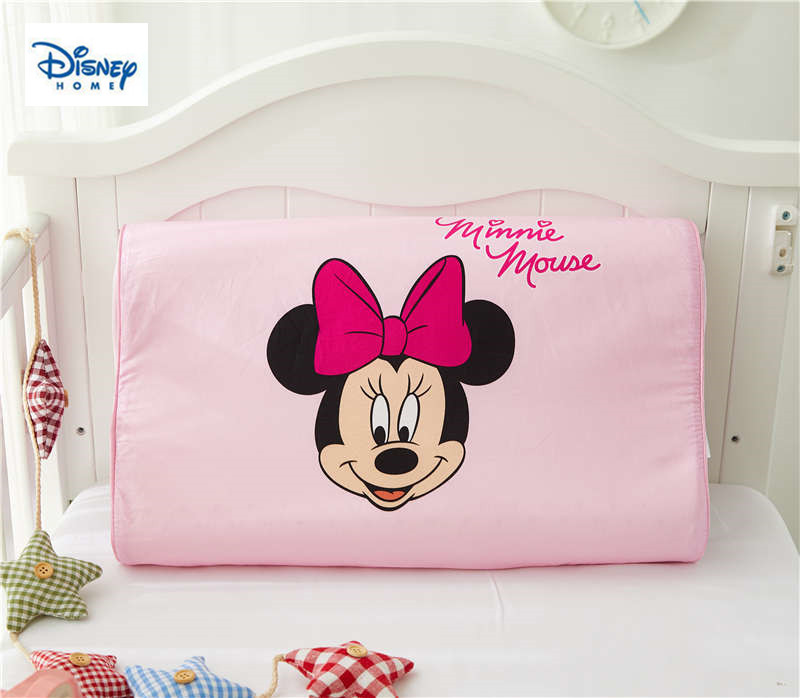 minnie mouse pillows for girls bedding set health latex pillow neck home decoration cervical care slow rebound sleeping bed kids