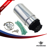 PQY RACING Free shipping- ALUMINUM POLISHED OIL RESERVOIR CATCH CAN TANK WITH BREATHER FILTER PQY-TK88