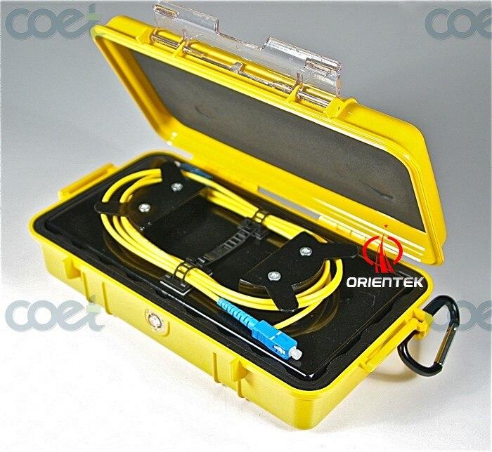 Mini boîte de câble de lancement optique d'otdr de fibre avec le petit paquet SM-G652D prix de 2 KM