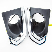 2PCS DRL Waterproof 12V LED Auto Car Daytime Running Lights Fog Lamp With Dimming Style Relay
