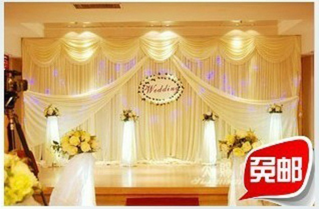 Wedding Stage Decoration Wedding Backdrops 3x6 Meters Ice Material