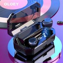 OLOEY 6000 mAh charging bin LED smart display high-end 6D surround HD sound 5.0 Bluetooth wireless Earphones