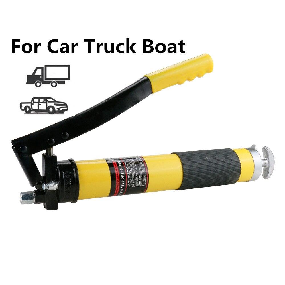 Pistolet à graisse pneumatique outil pompe à huile pression graisseur manuel robuste 12 pouces PU Flex tuyau pour véhicules d'outils de réparation automobile