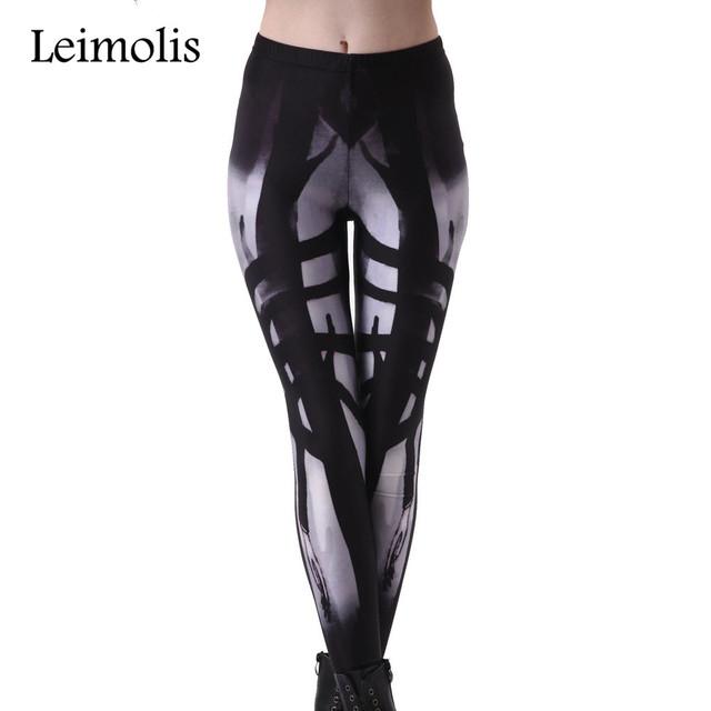 Leimolis 3D imprimé remise en forme push up workout leggings femmes gothique Alien Longue main démon plus taille adventure time punk rock pantalon