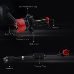 Image 5 - MINI CANBUS healight h4 led h11 h1 h3 h7 h11 9005 9006 hb3 hb4 csp chip auto styling lampada scheinwerfer 6000k led automotivo 2PCS