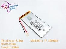 Литий полимерная батарея 3952100 3,7 в 3000 мАч 4050100 с защитной платой для КПК, планшетов, цифровых продуктов
