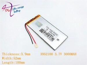 Image 1 - 3952100 3.7 V 3000 mah 4050100 ليثيوم بوليمر بطارية مع لوح حماية PDA ل وحية المنتجات الرقمية