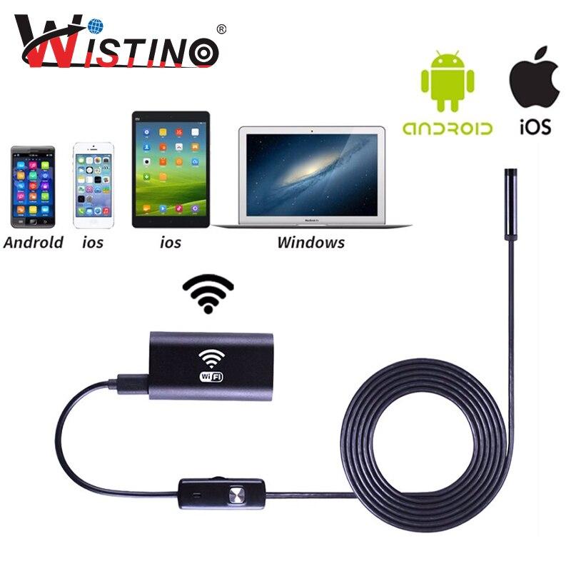 bilder für 8mm Weichen Kabel Mini Wifi Endoskop Smartphone Kamera Android Len HD720P Ip67 Inspektion Überwachung Boroskop Iphone Endoscopio