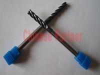 1pc 6mm hrc55 D6*40*D6*150 4 Flutes Spiral Bit lengthen Milling Tools Carbide CNC Endmill