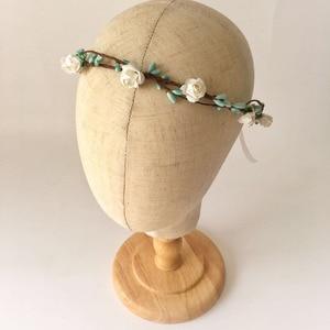 2020 6 шт оптом резинки для волос деревенские Тиффани синие ягоды и белый цветок корона, лист корона для свадьбы, вечеринки, выпускного вечера