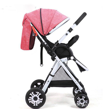 лучшая цена High landscape stroller ultra light can sit and fold two-way four-wheel shock absorber baby stroller