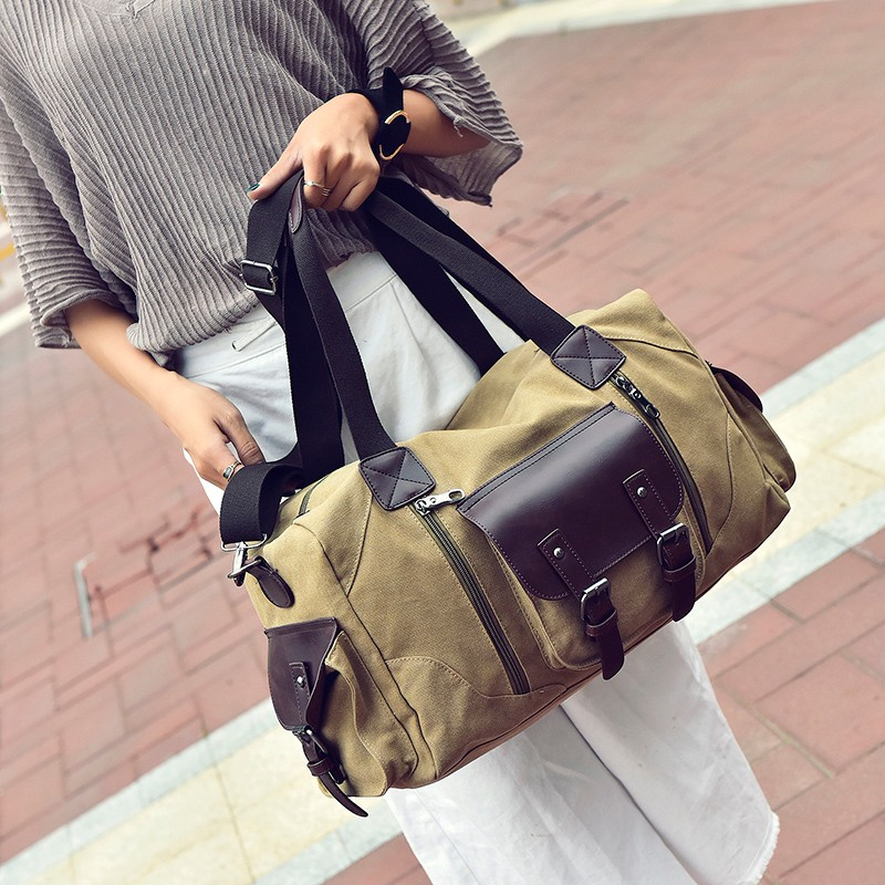 Famous Brand Men Vintage Canvas Men Travel Bags Women Weekend Carry On Luggage & Bags Leisure Duffle Bag Large Capacity Handbags (16)