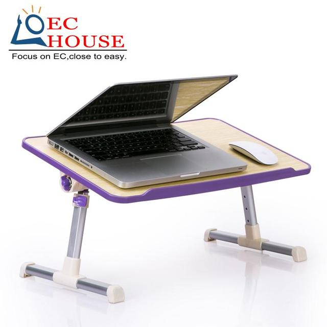 Notebook comter used on bed dormitory learning desk simple small lazy table cooling household folding