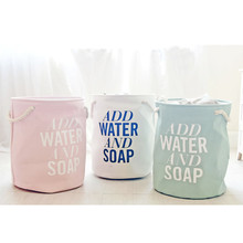 Round Laundry Basket 45*50 cm Thicken Foldable Storage Bags Cotton Linen Laundry Bags For Home bedroom washing duty cloth bags