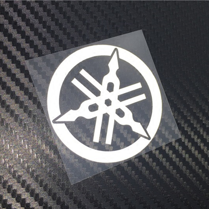 SLIVERYSEA 5*5cm for Yamaha Logo JDM Reflective Sticker Window Decal Car Truck Car Styling Accessories Black / Sliver #B1342 with logo sliver