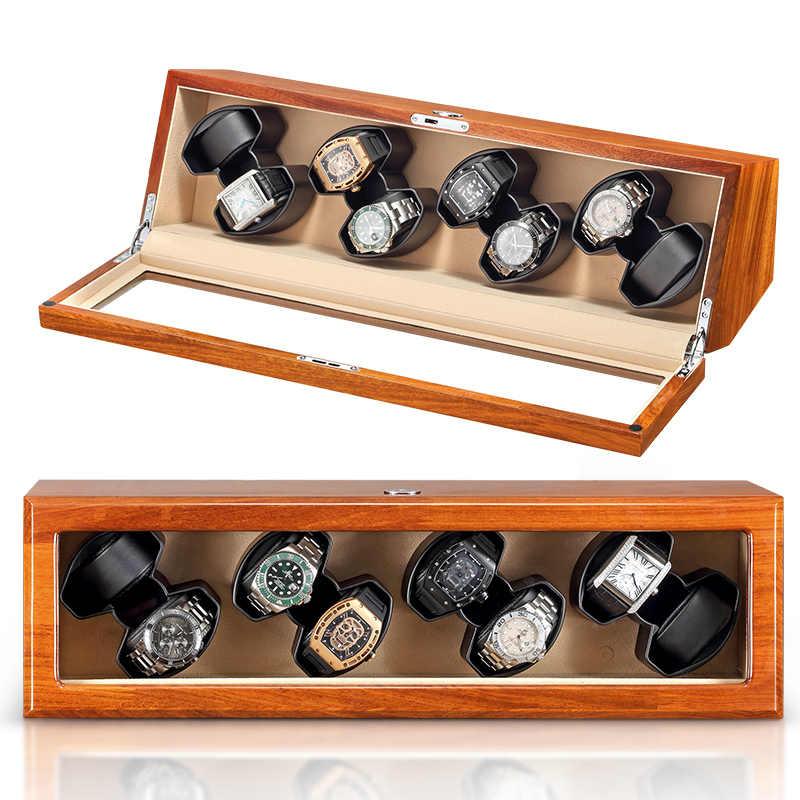 Cajas de Regalo de gran venta para relojes con logo personalizado caja de reloj automático de madera con inserto de terciopelo