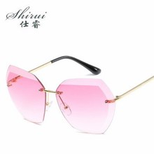 Sunglass 2018 Luxury Vintage Rimless Sunglasses