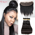 Top 7A Mink Brazilian Virgin Hair With Closure Ear To Ear Lace Frontal Closure With Bundles Brazilian Straight Hair With Closure