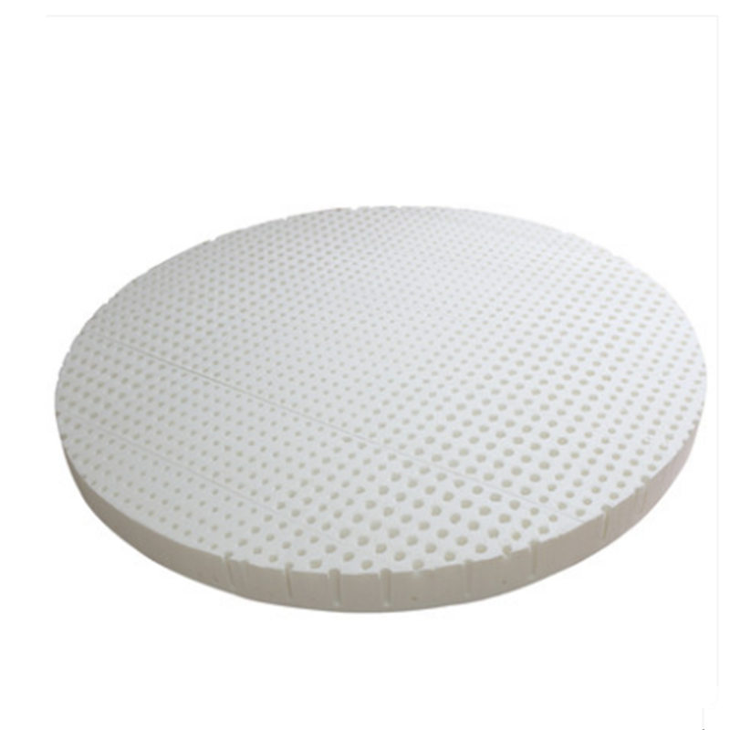 5CM Thickness 100% Natural Latex Round Mattress Pad with Quit Modal  - Furniture