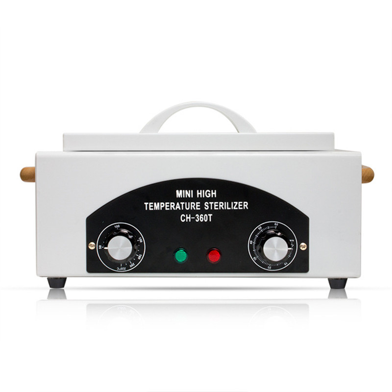 High Temperature Sterilizer Box For Nail Art Tools Hot Air Disinfection With Removable Stainless Steel Tank Dry Heat Sterilizer portable dental autoclave sterilizer with replaceable tray high temperature sterilizer hot air disinfection with wooden holder