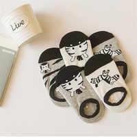 MUPLY skarpetki dla niemowląt niemowlę bawełniane skarpetki dla niemowląt dziewczyny chłopcy Meais w wieku 0-2 lat maluch noworodka zwierząt drukuj krótkie skarpetki 5 par/partia Sokken