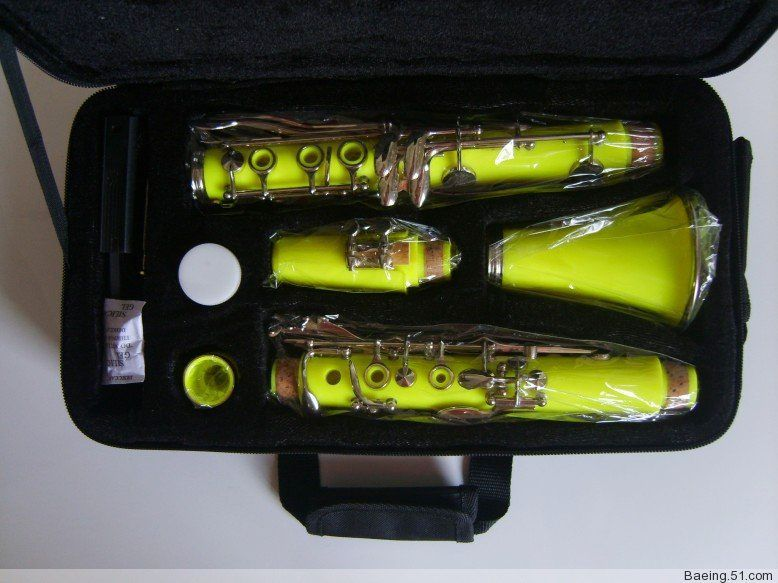 High-grade ABS Clarinet Bb Yellow color clarinet