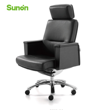 Comfortable Lying Gaming Chair with Headrest High Quality Cowskin Leather Executive Chair for Computer Game Office Furniture