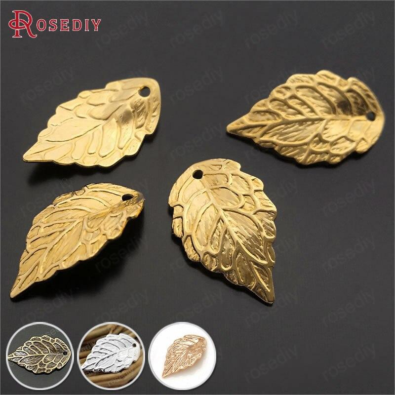 (29377) 30 Pcs 17*10 Mm Gold Farbe Überzog Messing Baum Blatt Charms Anhänger Diy Schmuck Erkenntnisse Ohrringe Zubehör Großhandel