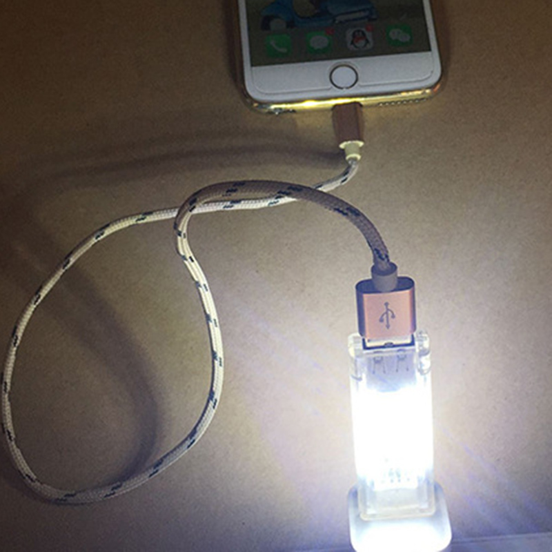 New Mini USB Led Night Light Camping lamp double sided 12 leds USB Charging Reading ligh ...