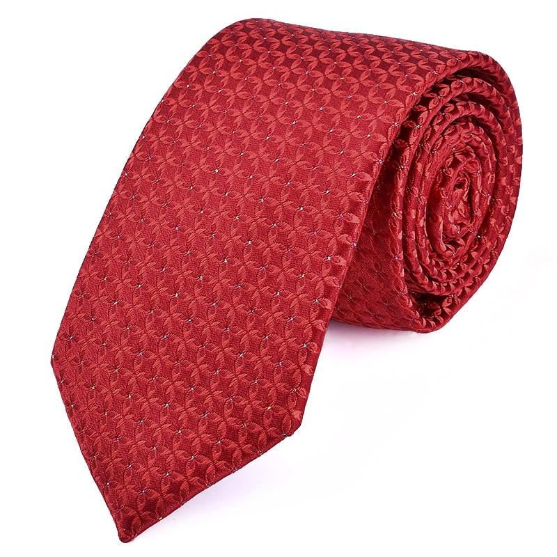 Man's wedding tie red 7cm slim stripe his