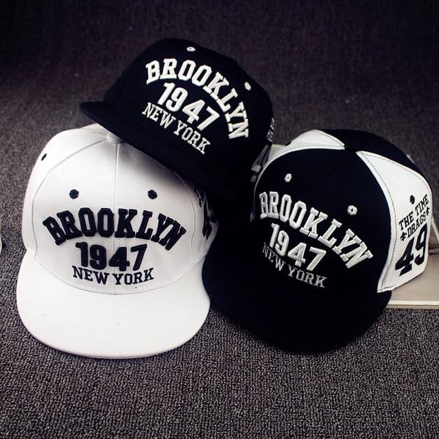 1947 Brooklyn Style Baseball Cap Sport Hat Gorras Planas Snapback Caps New  York Hip Hop Hats Snapbacks Casquette Polo Cap 7301f7fb903