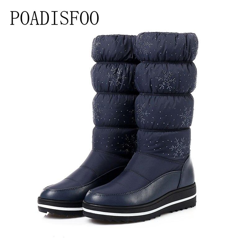 POADISFOO mujeres botas Casual negro Med del talón del cuadrado moda maduro  clásicos Zip mujeres sólidas e723ca138edf
