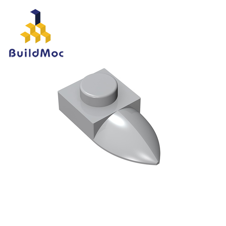 BuildMOC Compatible Assembles Particles 49668 Plate, Modified 1x1 Tooth Horizontal Building Blocks Parts Educational Tech Toys