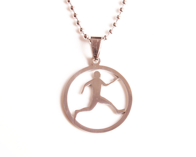 Skyhai running man necklace stainless steel sport runner necklace skyhai running man necklace stainless steel sport runner necklace jewelry men pendant necklace aloadofball Images