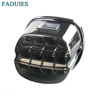 FADUIES Motobike LED Tail Lights Smoked / Red Lens License Plate Lamp For Harley 1999 2008 Touring