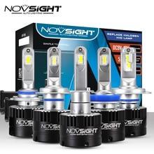 NOVSIGHT автомобилей головной светильник H7 H4 светодиодный H8/H11 HB3/9005 HB4/9006 H1 80 Вт 14400lm Авто лампы фары 5500 к светильник