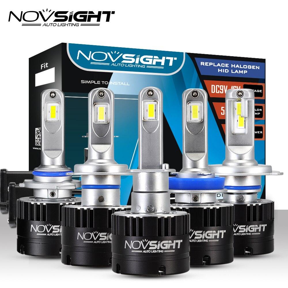 Novsight фар автомобиля H7 H4 светодио дный H8/H11 HB3/9005 HB4/9006 H1 80 Вт 14400lm Авто лампы фары 5500 К свет
