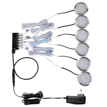 Wireless Dimmable LED Under Cabinet Light Aluminum LED Puck Light Kitchen Lights for wardrobe Counter Furniture Shelf Lighting