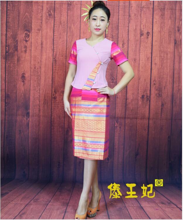 Summer Thailand Women Clothing Hotel&Restaurant Work Clothes Thailand Waiter Uniform