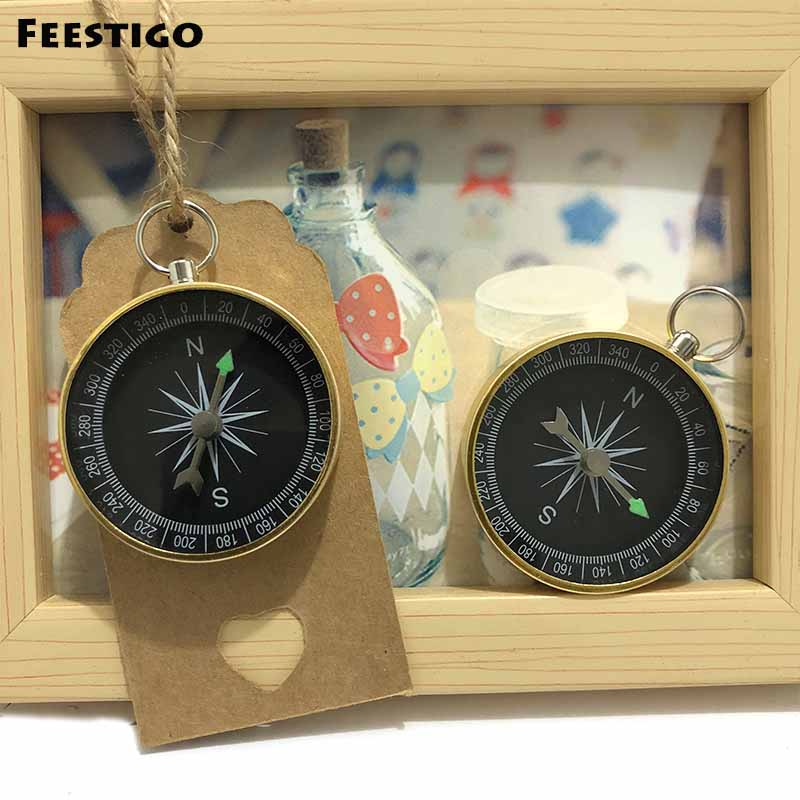 Feestigo 30 Sets Wedding Bridal Shower Birthday Party Favors Compass Wedding Souvenir For Guests Travel Themed Gifts Decorations