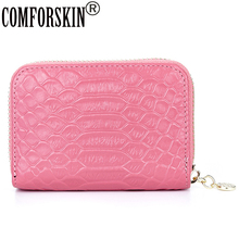 New Brand  Genuine Leather Credit Card Holders Real Alligator Holder 5 Color Factory Price On Sale