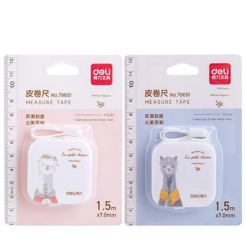 2pcs Mini Alpaca Leather Measuring Tape Set 1.5m 60inch Flexible Rule Portable Tapeline Stationery Office School Supplies A6577
