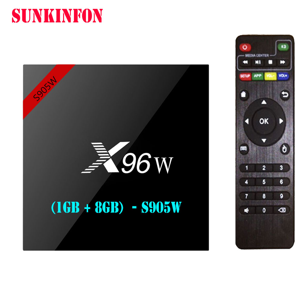 100 Pcs/lot X96W Android 7.1 TV Box Amlogic S905W 1G 8G Quad Core WIFI HDMI 4K HD Smart Set Top Box Media Player PK X96 A95X H96
