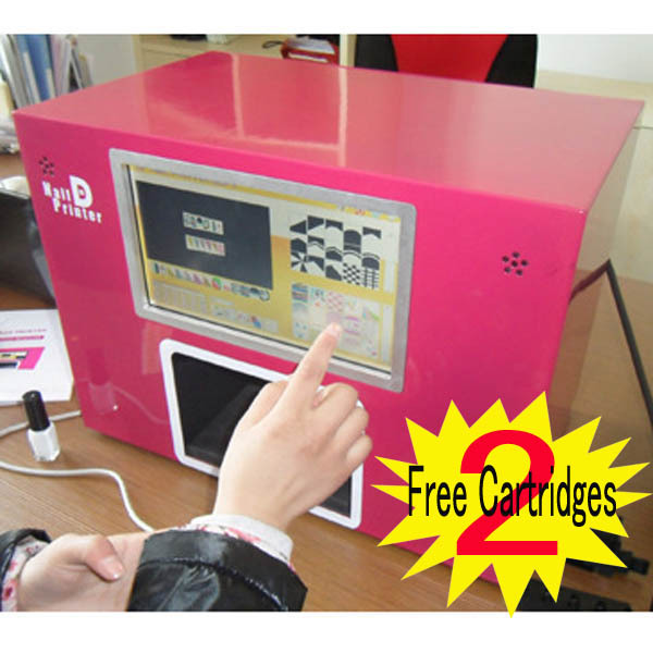 NEW UPGRADED CE approved Computer build inside nail printer 5 nails printing machine digital nail printer with screen