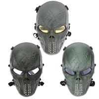 Shock Resistant PC Lens Skull Paintball Games CS Field Face Protection Mask Hunting Military Tactical Cycling