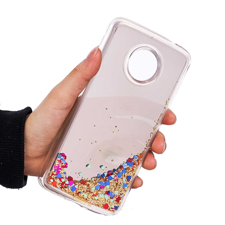 38fb272597 ... Liquid case Bling Heart For Coque Motorola Moto E4 Lenovo Moto E4 Plus  Case Cover TPU ...