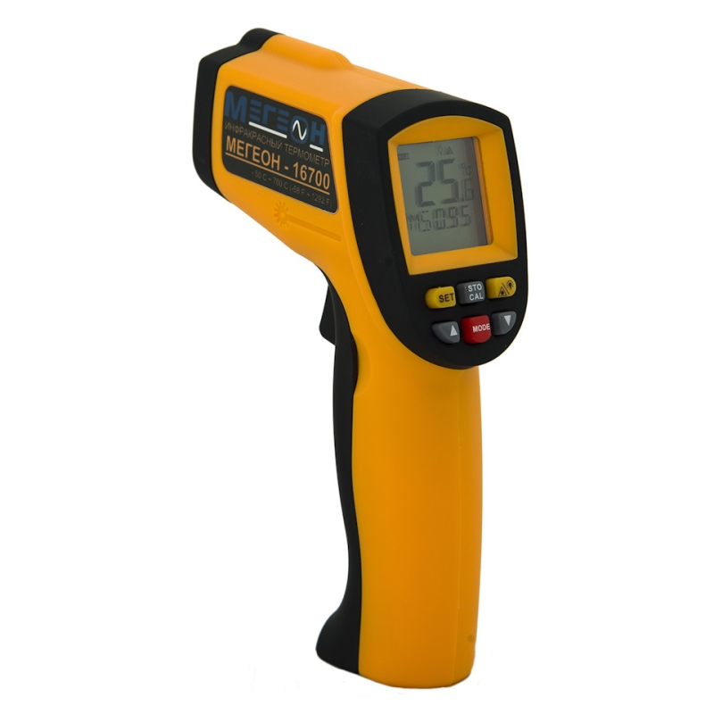 Pyrometer МЕГЕОН 16700 (measuring range temperature range-50-700 C, temperature range 0-40C, LCD display, battery type