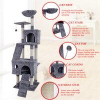 RU домашняя доставка 173 см кошачье дерево для игры котов игрушки товары для домашних животных кошек дерево котенок активности башня квартира